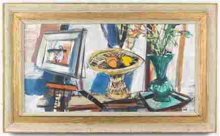 """Sigmund Menkes """"Still Life"""" Oil on Canvas"""