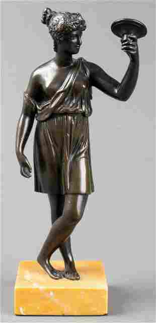 Grand Tour Neoclassical Bronze, 19th C.