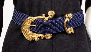 Christian Dior Navy Blue Belt