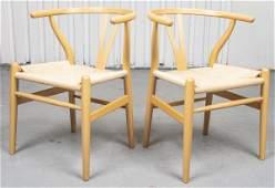 """Hans Wegner """"Wishbone"""" Chairs, Pair"""