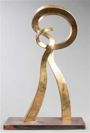 Signed Tresfort Abstract Bronze Sculpture, 1976