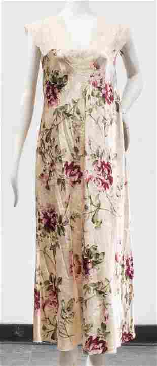 Valentino Intimo Floral Nightgown and Robe