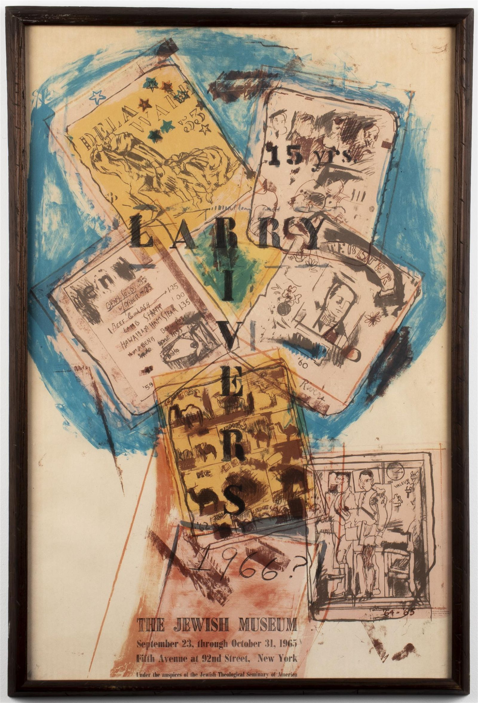 """Larry Rivers """"Affiche Jewish Museum"""" Lithograph"""
