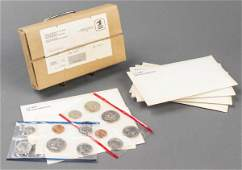 US Mint 1981 Uncirculated Coin Sets, 10 Sleeves