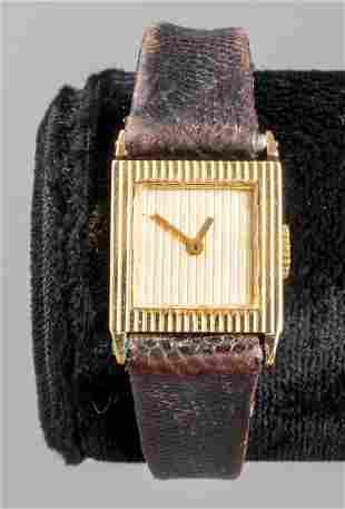 Boucheron 18K Yellow Gold Ladies Square Dial Watch
