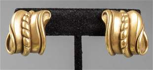 Barry Kieselstein Cord 18K Yellow Gold Earrings