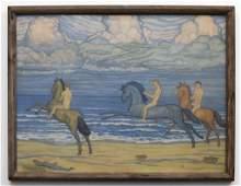 Attributed to Giorgio de Chirico Oil on Canvas