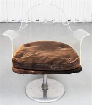 Laverne Style Mid-Century Modern Lucite Armchair