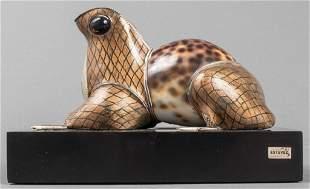 "Roberto Estevez ""Frog"" Natural Specimen Sculpture"