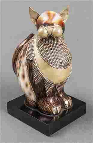 "Roberto Estevez ""Cat"" Natural Specimen Sculpture"