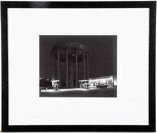 "George Tice ""Petit's Mobil Station"" Gelatin Silver"