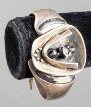 Salvador Teran Taxco Silver & Black Stone Bracelet