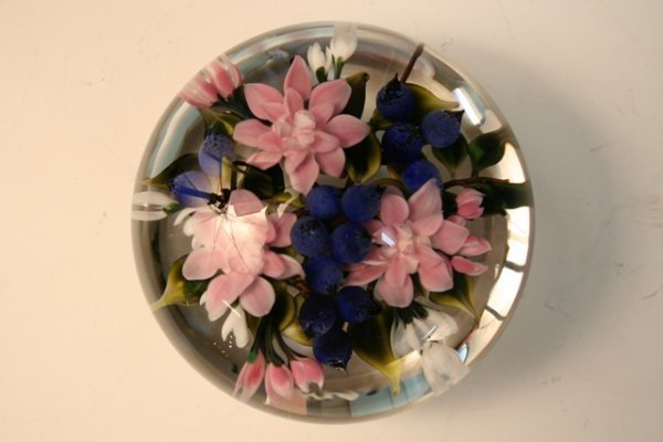 Glass Bouquet Paperweight by Ayotte 1988
