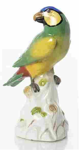 Meissen Porcelain Model Of A Parakeet
