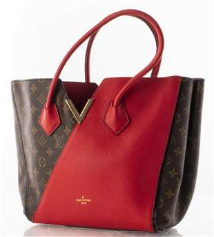 Louis Vuitton Kimono Canvas And Leather Handbag