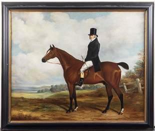 "A. Maffei ""Horse & Rider"" Oil on Canvas"