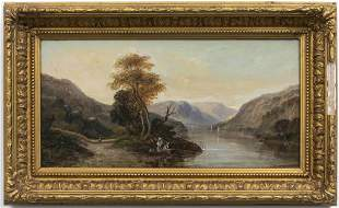 "John Westall ""Figures in Landscape"" Oil on Board"