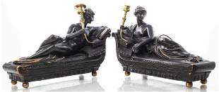 Neoclassical Style Figural Candlesticks, Pair
