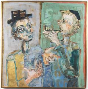 "Paul Aizpiri ""La Palabre"" Watercolor & Gouache"