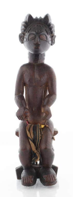 African Baule Carved Wood Ancestor Figure
