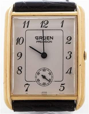 Vintage Gruen Gold-Tone Stainless Steel Watch