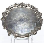 English Sterling Silver Engraved Salver