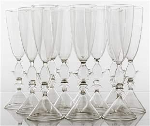 Mathias Paris Crystal Champagne Flutes, 11