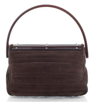 Yves Saint Laurent Brown Alcantara Handbag