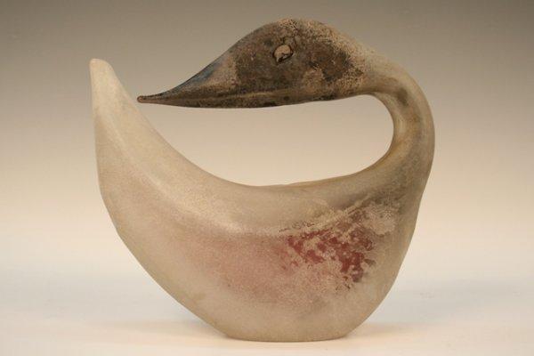 Murano Cenedese Scavo Glass Duck Mid-Century
