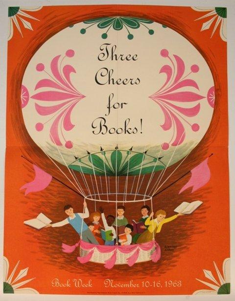 Children's Book Week Poster Adrienne Adams 1963