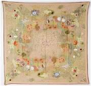 Gucci Flowers & Birds Silk Scarf