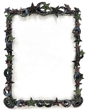 """Jay Strongwater """"Moon and Stars"""" Picture Frame"""