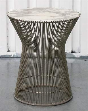 Warren Platner for Knoll Marble & Steel Side Table