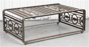 Edgar Brandt Style Art Deco Coffee Table