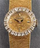 Vintage Longines 18K Gold Diamond Ladies Watch