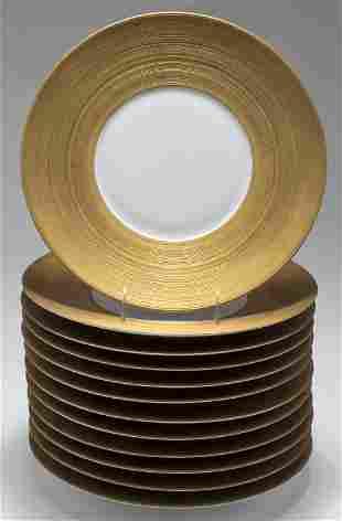 JL Coquet Limoges Porcelain Presentation Plates 12