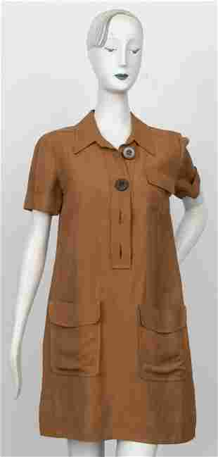 Chloe Brown Safari Shirt Dress