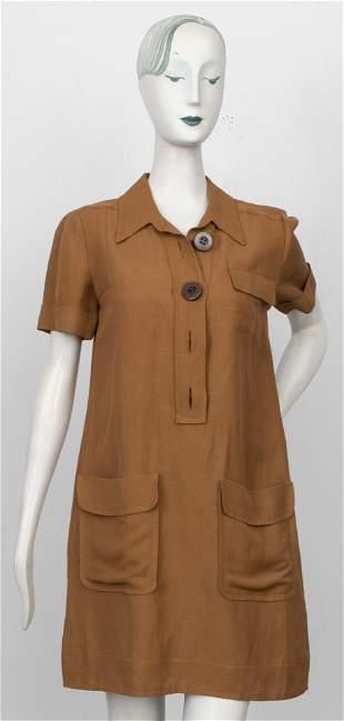 Chloe Brown Safari Shirt Dress