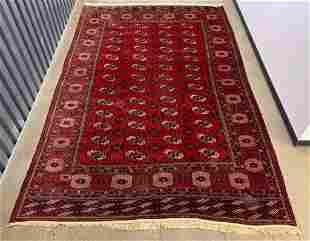 Persian Red Geometric Carpet, 12 x 8