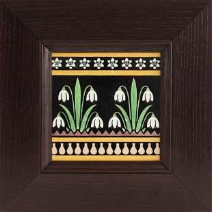 English Arts & Crafts Minton Dresser Pottery Tile