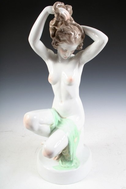 Porcelain Female Figure by Herend of Hungary