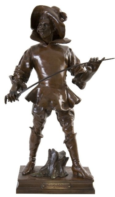 Capitaine Fracasse French Bronze Sculpture 19th C.
