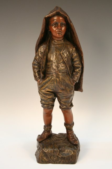 C'est Moi! French Bronze Figure Bastiane 19th C.