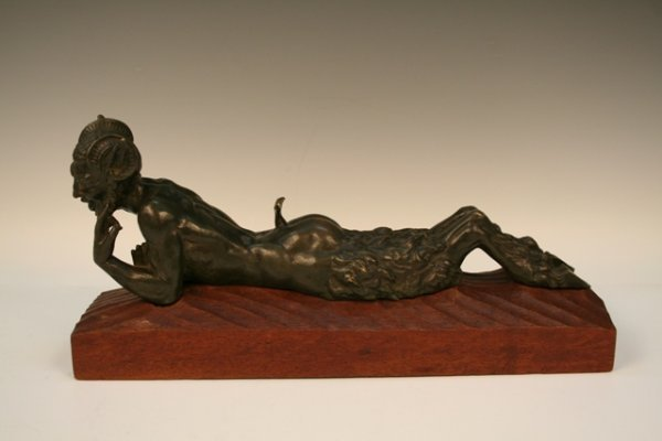 <i>Pan & Lover</i> Pair of Bronzes Early 20th C.