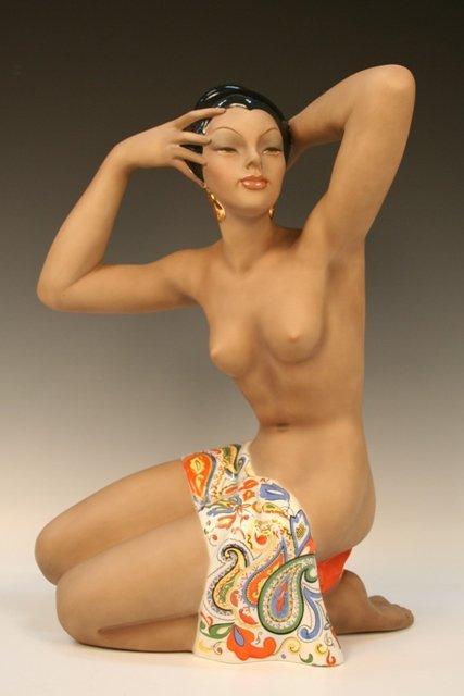 C.I.A. Manna Italian Earthenware Nude Figure