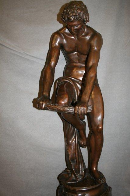 French Neo-Classical Bronze Figure Le Bucheron