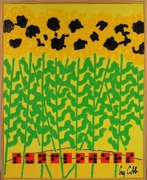 """""""Sunflowers"""" Braille Painting Guy Cobb 2004"""