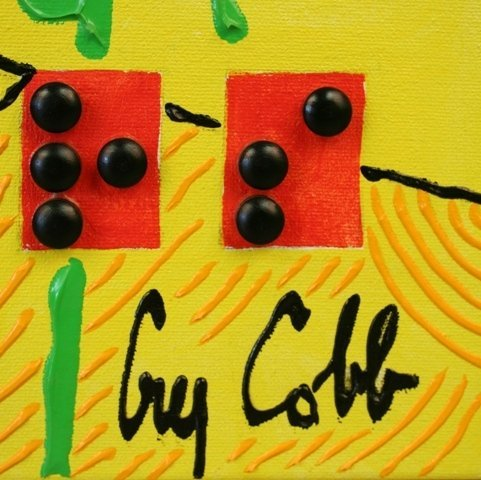 """""""Sunflowers"""" Braille Painting Guy Cobb 2004 - 4"""