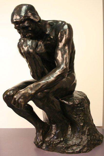 <i>The Thinker</i> Rodin Rare Bronze Cast Elicker 2008