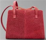 Judith Leiber Red Lizard Handbag